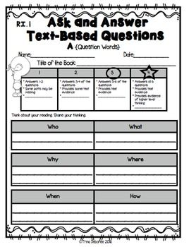 Standards Based Assessment: Asking and Answering Questions – Trina Deboree Teaching and Learning