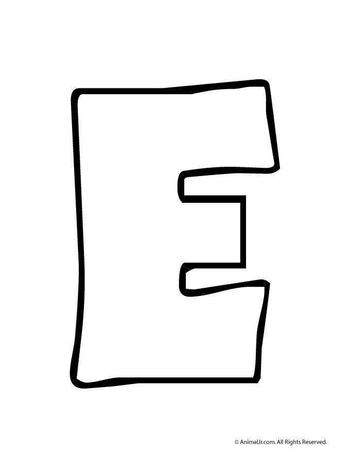 Printable Bubble Letters Bubble Letter E – Craft Jr.