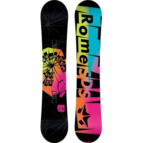 Rome Lo-Fi Rocker Snowboard (For Women) - LOVE the colors but not necessarily the design