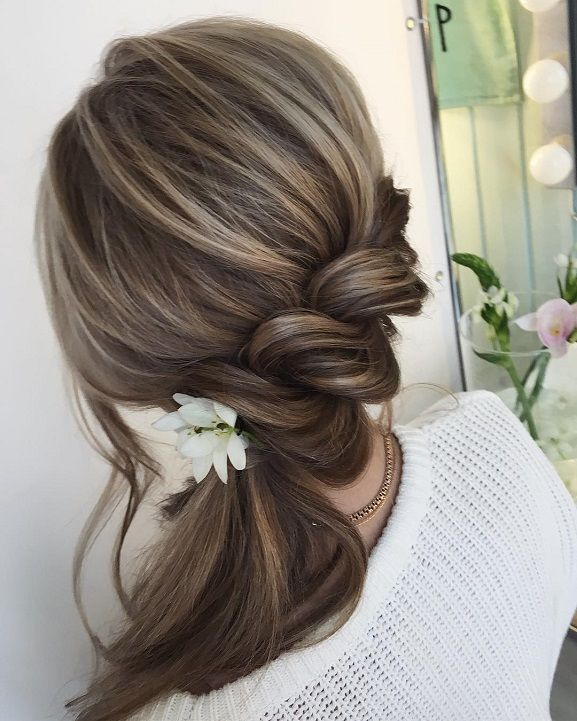 Swept side hairstyles,Twisted ponytail hairstyle idea,hairstyles,prom hairstyles,hairstyle for long hair