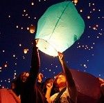 Colored Wishlantern - These sky lantens come in a range of colors and look great in the day and night.