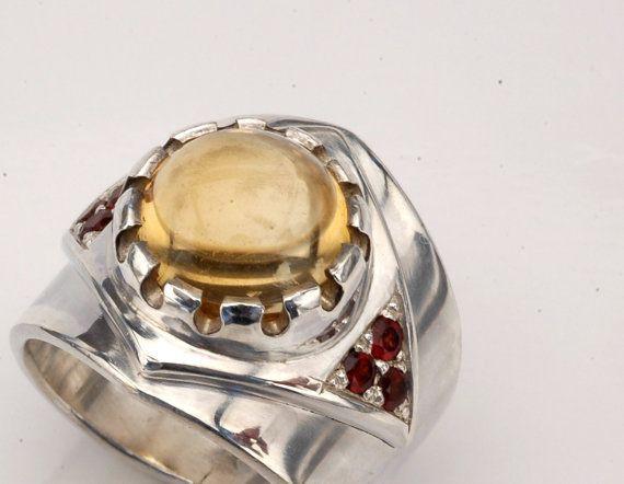 Men silver ring. Men statement ring. Man special ring by shmukies, $300.00