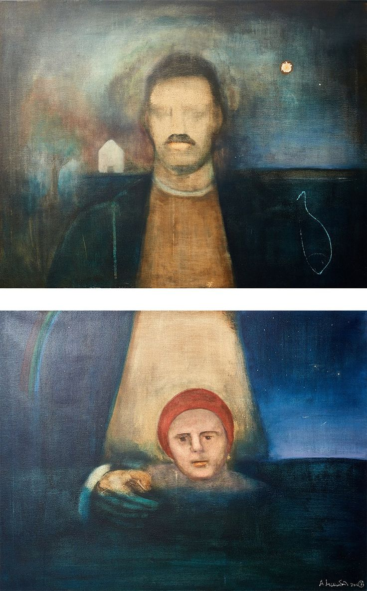 "Apostolis Itskoudis, ""Father"", (Πατέρας), acrylics on canvas, 70Χ90 cm each, 2016."