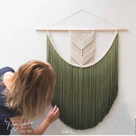 "Macrame Wall Hanging – sizes Small, Medium, Large, XL, XXL, 3XL – Fiber Art – ""EVA"""