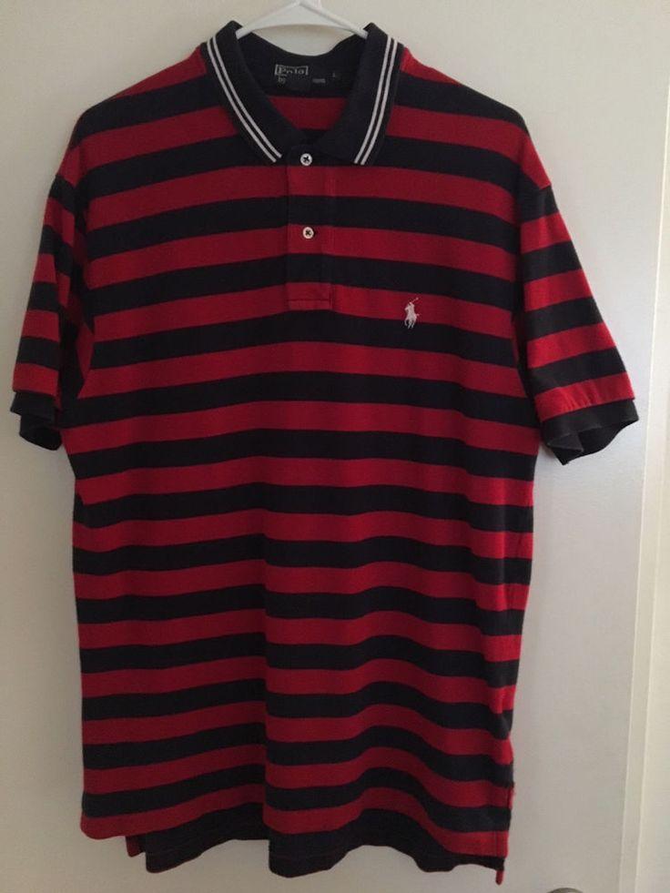 Ralph Lauren Polo Classic Shirt Vintage Size Large L Red Blue White #RalphLauren #Shirt