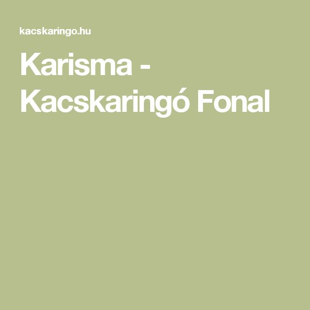 Karisma - Kacskaringó Fonal