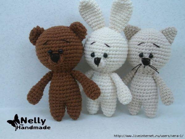 Вяжем крючком малышей: мишка, котик и зайка / Вязание / ProHobby.su - Вязание спицами и крючком для начинающих, схемы вязания и описание