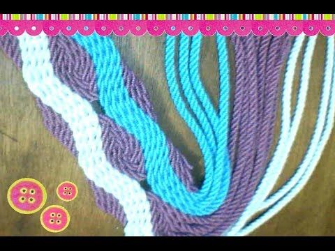 Tutorial #128: Tiras, Fajones o Asas de Mochilas Wayúu | CTejidas [Crochet y Dos Agujas]