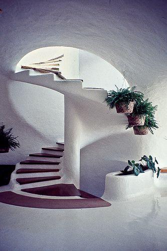 Staircase in the Mirador del Río by César Manrique, Lanzarote.