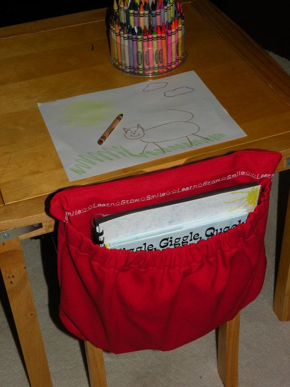 Classroom Chair Cover Pocket School by CoffeeKidsNDolls on Etsy, $17.50