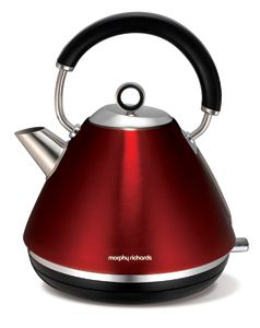 Morphy Richards Metallic Red Accents Traditional Pyramid Kettle
