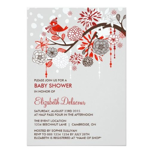 346 best holiday baby shower invitations images on pinterest whimsical winter snow baby shower invitation stopboris Image collections