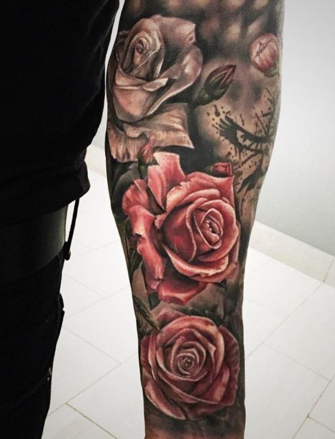 Best 25 rose sleeve tattoos ideas on pinterest rose for Roses sleeve tattoos