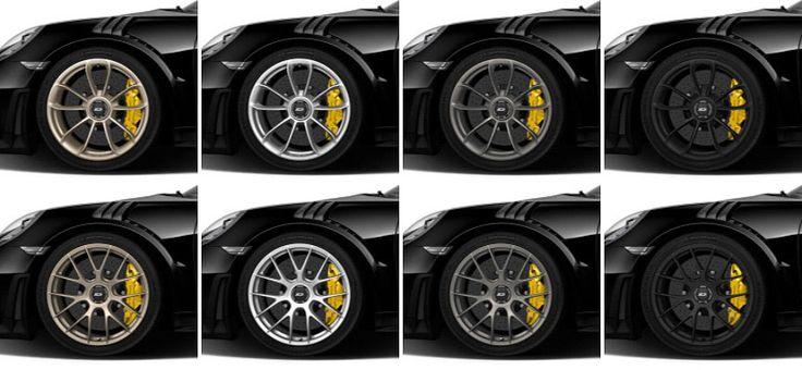 Porsche 911 991 GT2 RS wheels (white gold, silver, platinum, black)