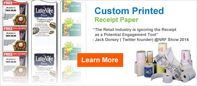 Thermal & Bond Receipt Paper Rolls, Butcher Paper, Kraft Paper...POS Supply = Reliable, Hassle-Free Custom Paper.