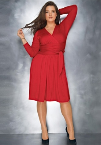 Gorgeous plus size red dress