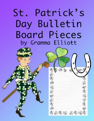 St.+Patrick's+Day+Bulletin+Board+Kit++from+Gramma+Elliott+Educational+Tools+and+Clip+Art+on+TeachersNotebook.com+-++(55+pages)++-+St.+Patrick's+Day+Bulletin+Board+Pieces+contains+easy+to+print+pages+in+color+and+black+line+art.+ Letters,+Images,+Writing+Paper