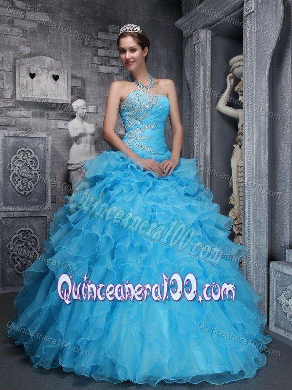 17 Best images about 2014 aqua blue quinceanera dress on Pinterest ...