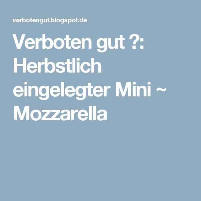 Verboten gut ⚠: Herbstlich eingelegter Mini ~ Mozzarella