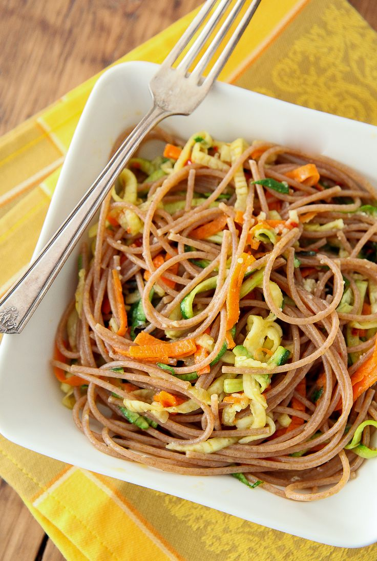 """Spaghetti and Vegetable """"Noodles"""" 