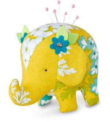 Elephant Pincushion Kit - EffieIdeas, Sewing, Pin Cushions, Crafty, Pincushions Pattern, Elephant Pattern, Heather Baileys, Crafts, Elephant Pincushions