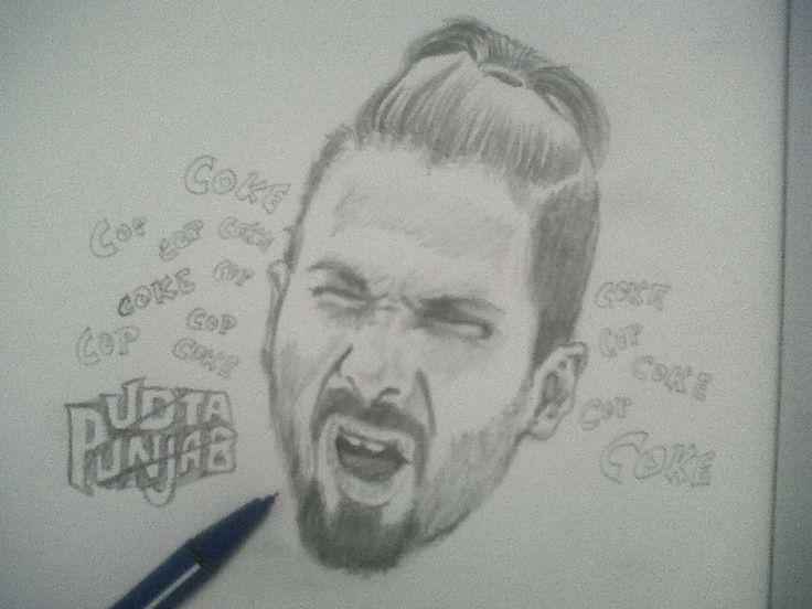 udta punjab shahid kapoor pencil portrait