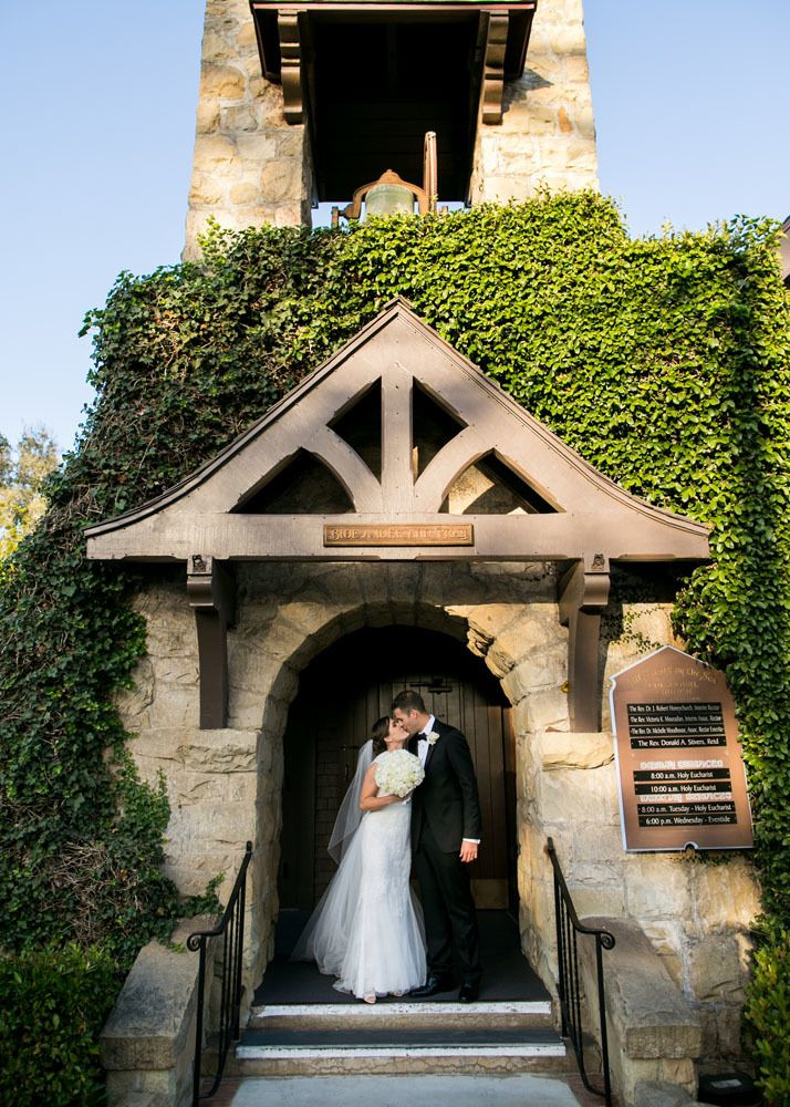 the wedding ceremony took place at all saints by the sea episcopal