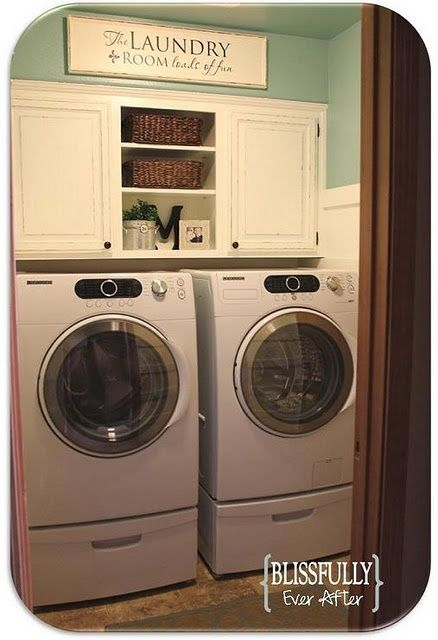 idea for laundry room with limited space