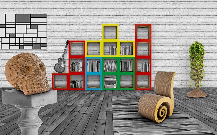 Ecodesign a marchio Carton Factory. Arredamento ecosostenibile, mobili in cartone, idee regalo originali e ad impatto ambientale zero.  #cartonfactory #cartone #ecodesign #design #cardboard #furniture