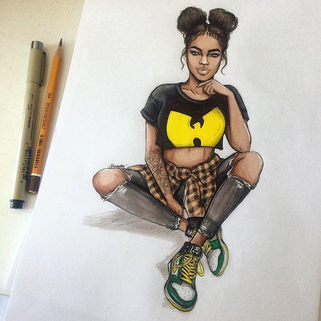 Wu Wednesday  #sketchbook #art #artist #nataliamillustrations #fashionsketch…