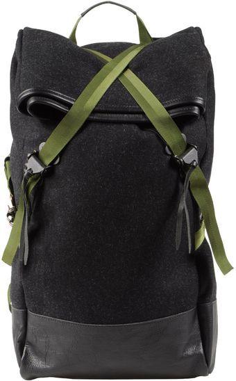 CHRISTOPHER RAEBURN, RUCKSACK: crisscross straps and hainsworth fabric.