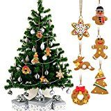 EDW 6 Stück Weihnachtsbaum hängende Christbaumschmuck(6 Stück Anhänger)