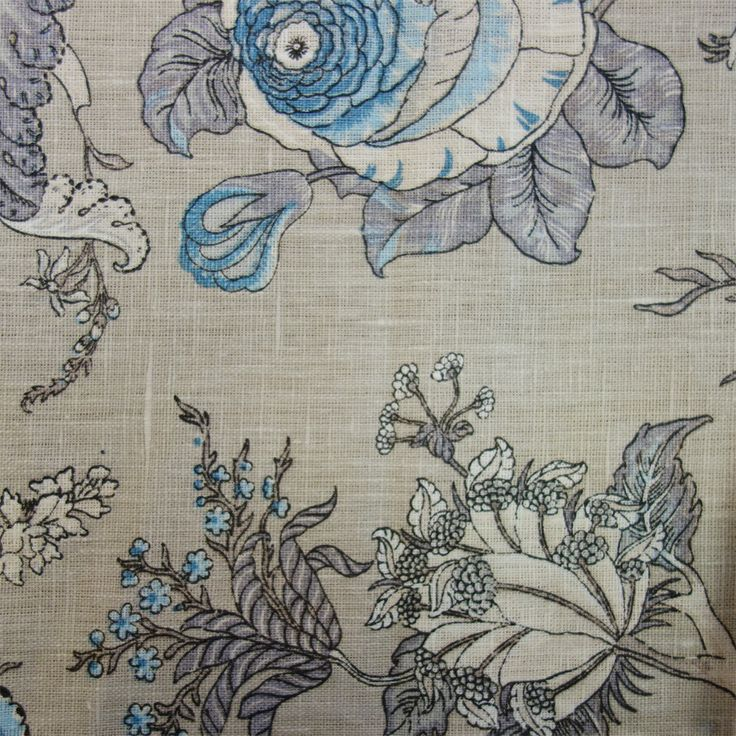 Gypsy Floral Fabric - Dove