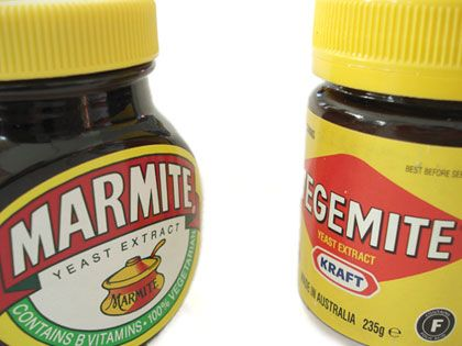 Marmite, Not Vegemite..the alternative is something called marmite..NOT the same..lol