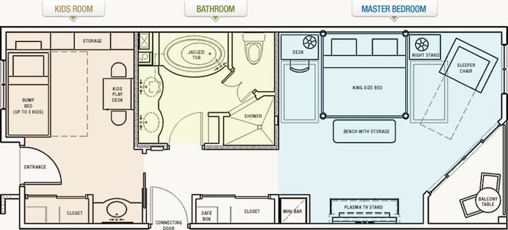 "Master Bedroom Suite Floor Plan. Replace The ""kids Room"