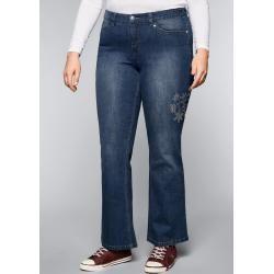 Große Größen: Gerade Stretch-Jeans Lana mit Used-Effekten, dark blue Denim, Gr.112 SheegoSheego