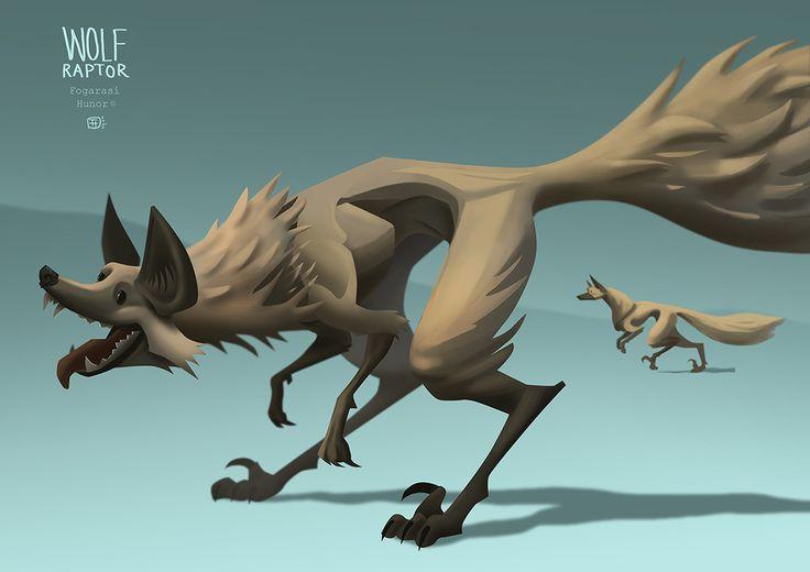 Wolf Raptor, Hunor Fogarasi on ArtStation at https://www.artstation.com/artwork/41l1q