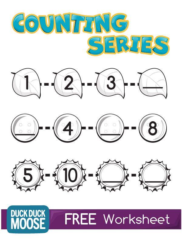 counting series worksheet kindergarten common core k cc 1 k cc 2 skill building practice. Black Bedroom Furniture Sets. Home Design Ideas