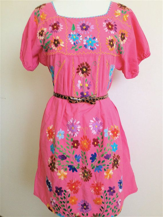 Vintage Mexican Peasant Dress/Blouse by iloveluci on Etsy, $65.00