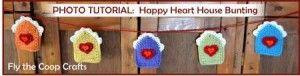 Clever Valentine Crochet  Bunting Birdhouses