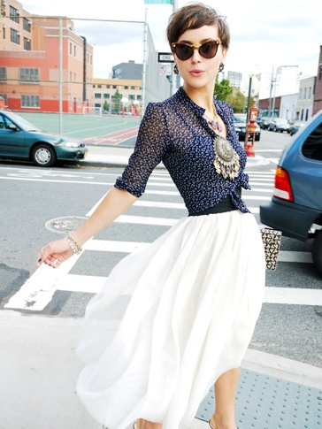 tied silk blouse with long chiffon skirt GET IT HERE!! http://www.bossnotin.com/Apparel-Accessories/Ladies-Wear/Long-Chiffon-Skirt