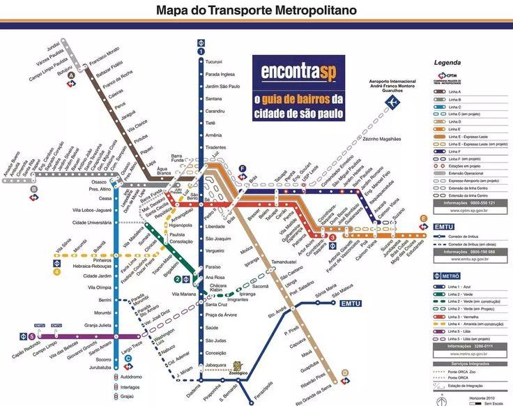 Mapa do Transporte Metropolitano de São Paulo