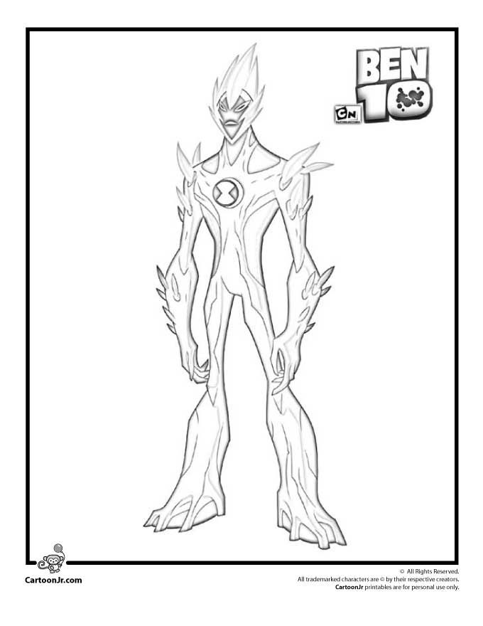 Ben 10 Coloring Pages Swampfire