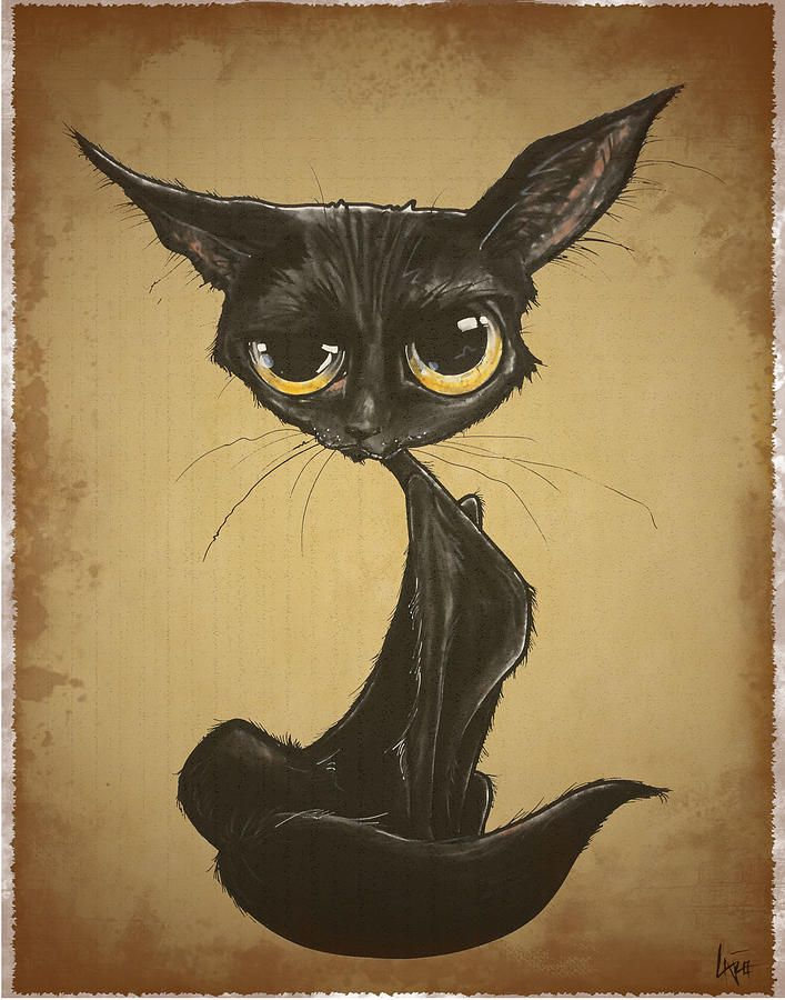 Caricature Drawing Cats Sassy Black Cat Caricature