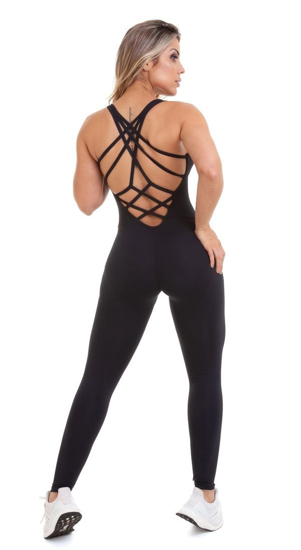 f0ab08438f54 CajuBrasil - Brazilian Workout Jumpsuit - NZ Fit Goddess Black ...