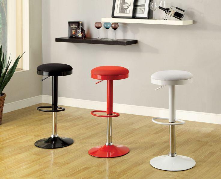 Furniture Of America Height Adjustable Bar Stool 2Pc Cm-Br6916