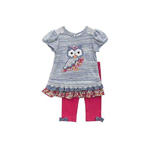 RARE EDITIONS 2tlg. SET Kleid & Leggings, Mädchen Outfit, Kombination, EULE F292375 HW2015, Gr. 6X (ca. 128)