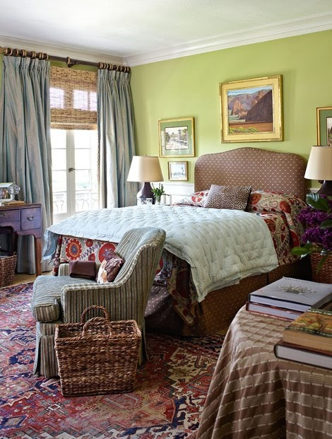love thisDecor Ideas, Beautiful Homes, Guest Bedrooms, Colors Pattern, The Yellow House, Vibrant Colors, Bedrooms Decor, Beautiful Room, Traditional Homes