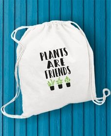 PLANTS ARE FRIENDS #bawełna #worek #plecak #bag #plantarefriends #friends #plant #pomysł #druk #print #funfara