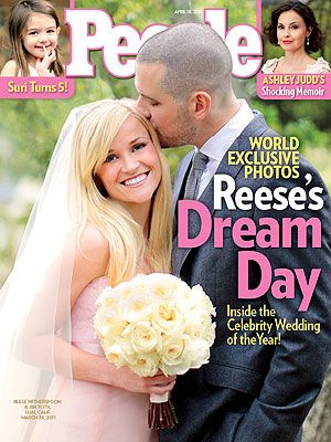Reese Witherspoon and Jim Toth wedding day photo People mag